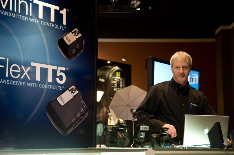Dave Schmidt presents PocketWizard at WPPI